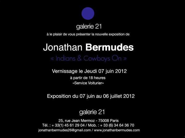 Jonathan Bermudes Exposition Indians & Cowboys On