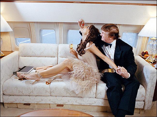 Salle De Bain Rouge Noir Et Blanc : Melania Donald Trump Plane