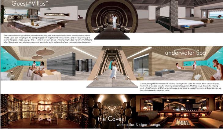 Une villa privée, le spa souterain et les caves