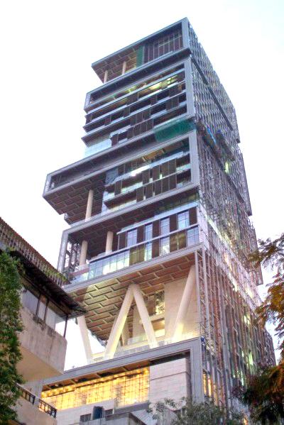 Maison de Mukesh Ambani, Bombay Inde