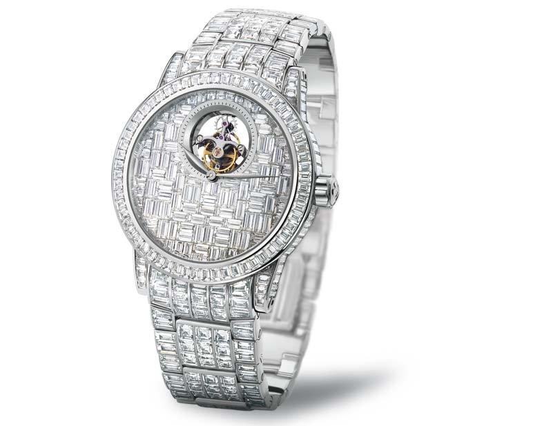 Tourbillon diamants créés par Blancspain et Swatch Group
