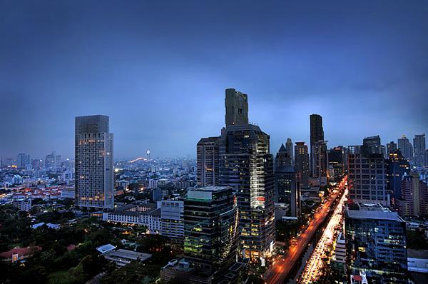 Quartier des affaires de Bangkok