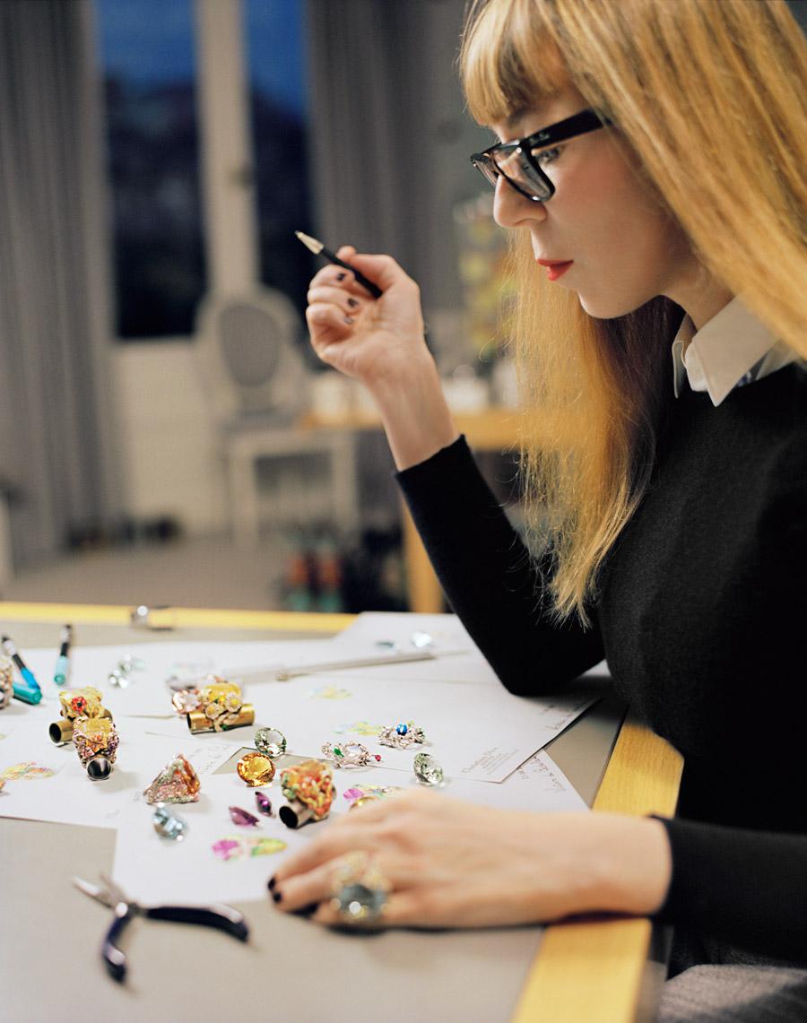 Cher Dior créateur Victoire de Castellane dans le studio de design de François Halard
