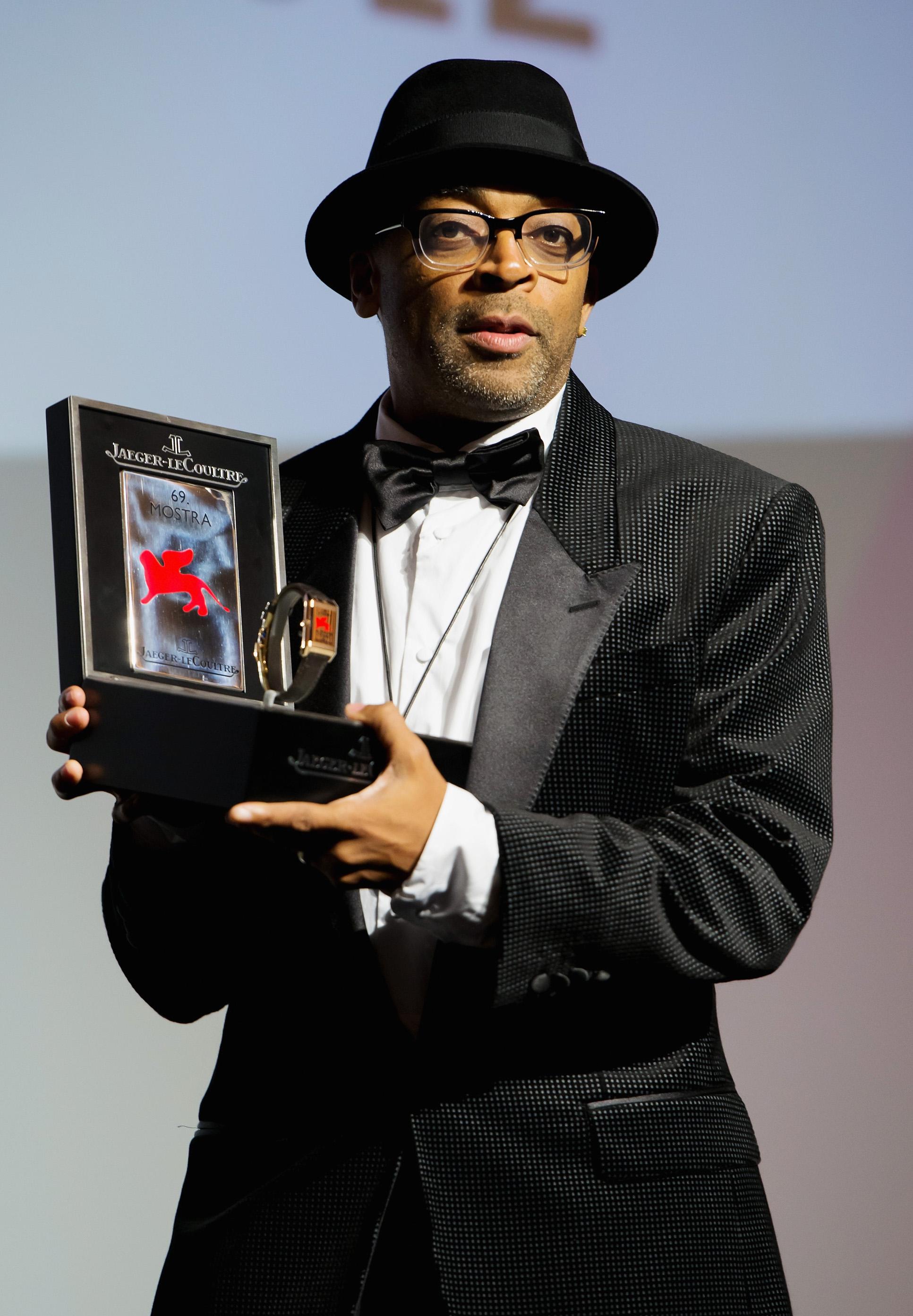 le réalisateur Spike Lee reçoit le prix Jaeger-LeCoultre.