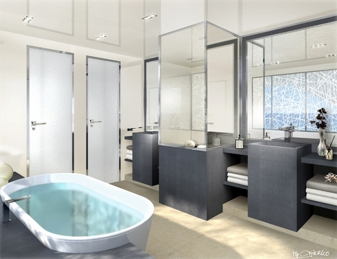 Salle de bain du  COUACH FLY 5000 « LA PELLEGRINA »