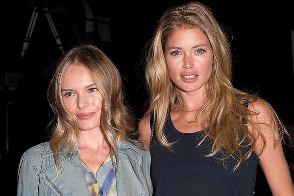Kate Bosworth et Doutzen Kroes lors du défilé Theyskens' Theory