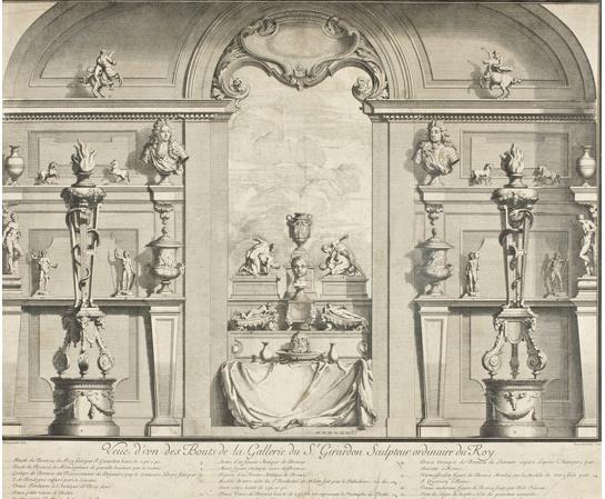 Plan de la Galerie de Giradon, d'après un dessin de Charpentier