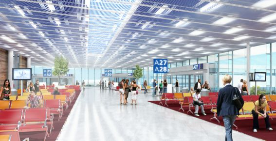 Le nouveau terminal international d'Orly Sud