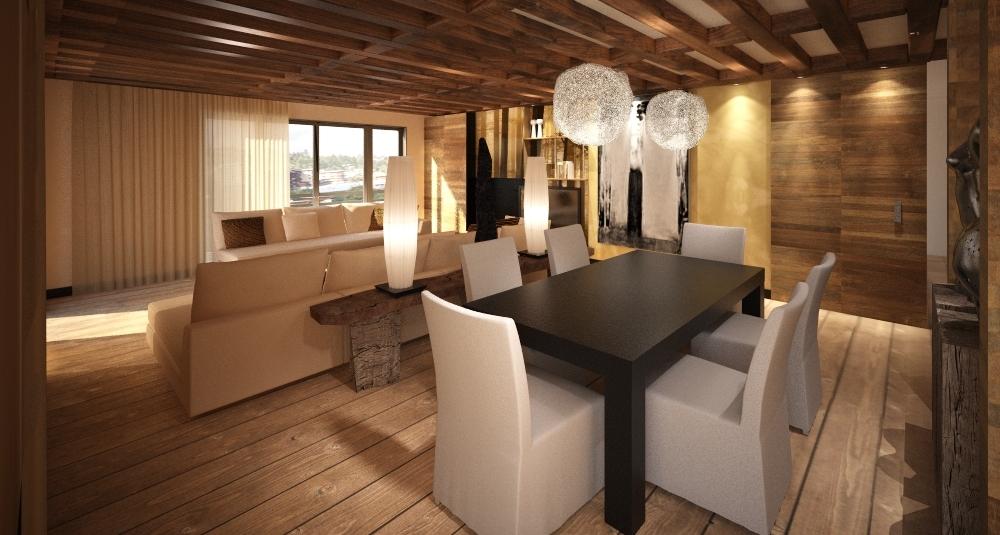 Emejing decoration interieur bois moderne pictures for Decoration interieur chalet moderne
