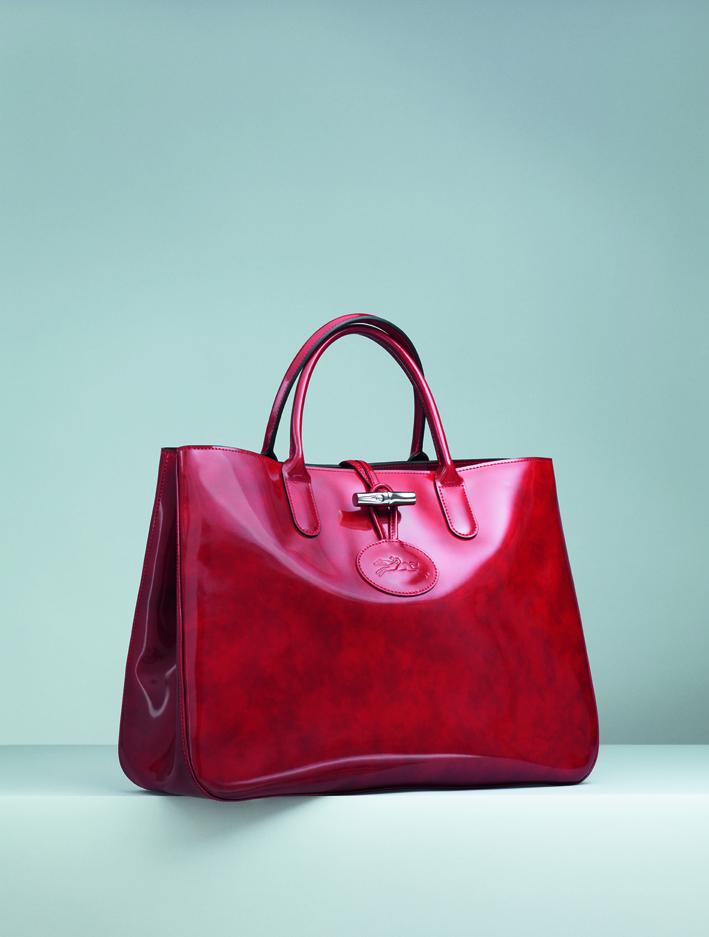 Un rétro pour le sac longchamp roseau vernis noir Rose - geokibios.be