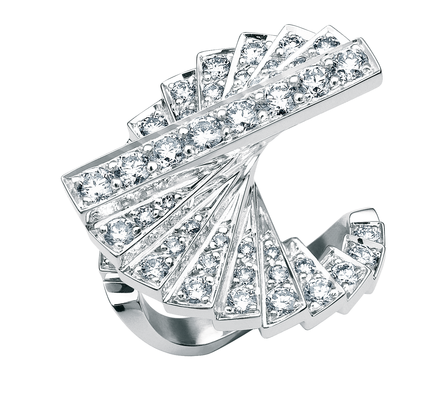 ROURE-COLLECTION ESCALIER-BAGUE DIAMOND INTERNATIONAL AWARD-DIAMANT:OR BLANC