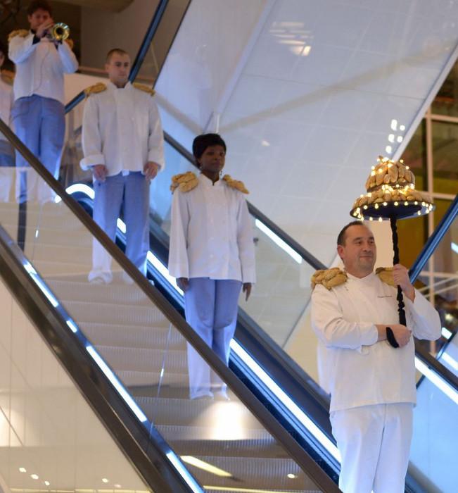 Au premier plan Nicolas Quer uel, chef Boulanger, soiree inauguration nouvelle Grande Epicerie de Paris 09.12.13