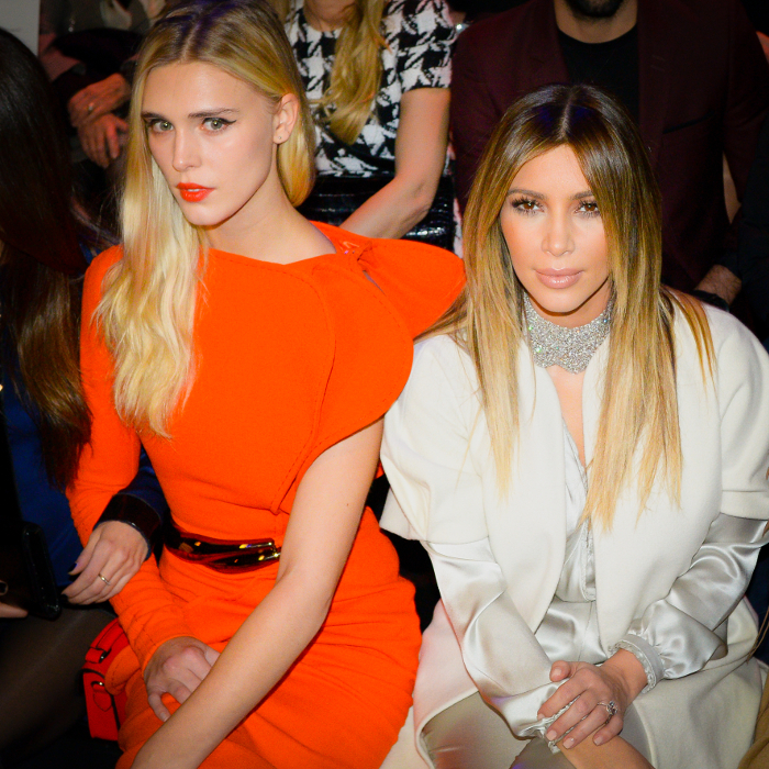 Gaia Weiss et Kim Kardashian