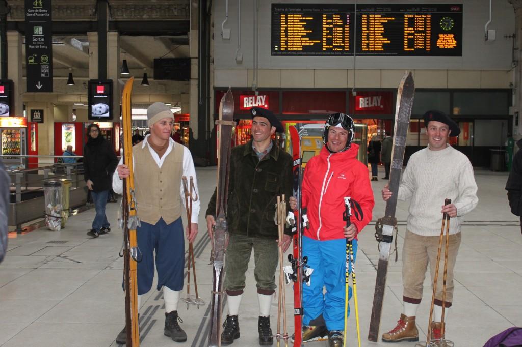 Groupe skieurs