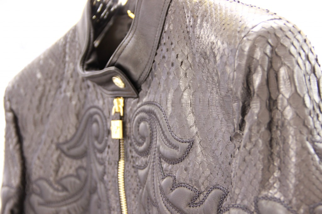 blouson cuir et python, 4000 euros