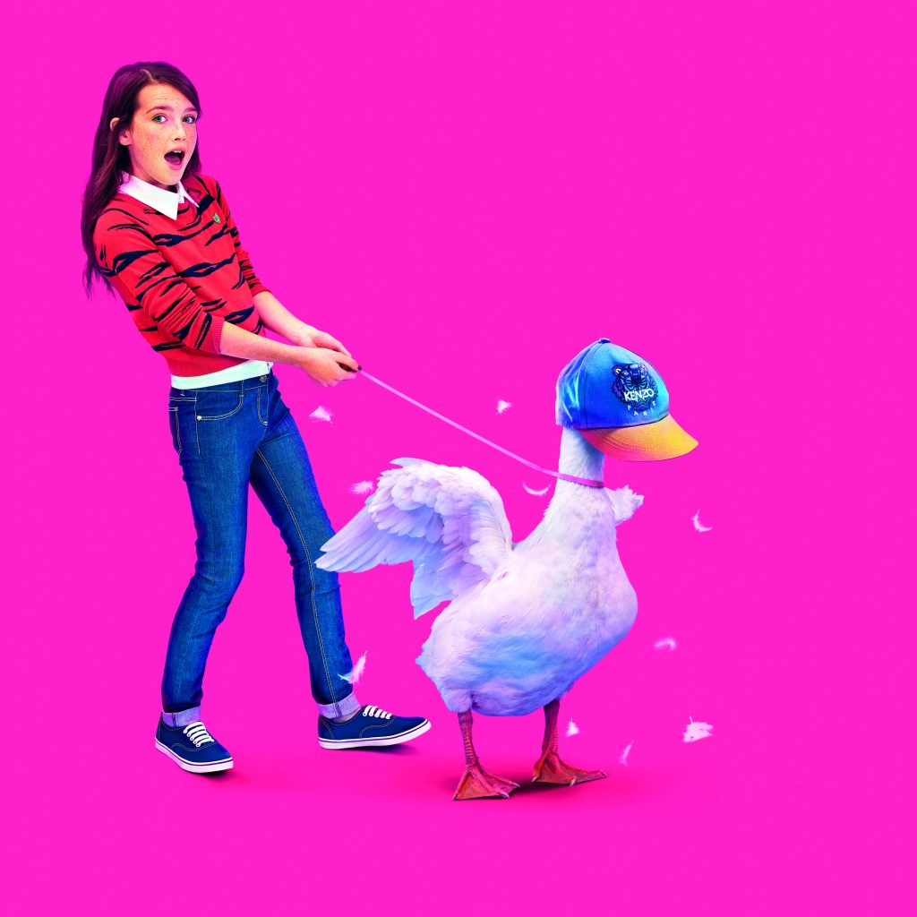 KENZO KIDS Goose_Girl_fuxia