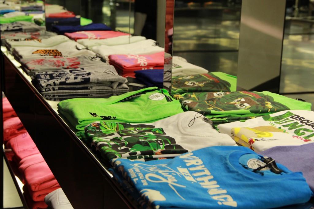 rayon tee shirts, à partir de 135 euros
