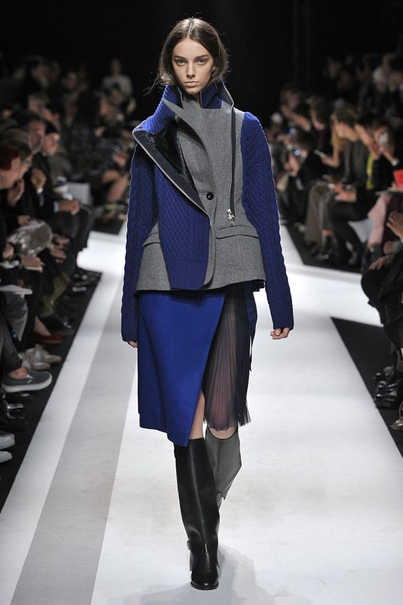 Sacai Womenswear Fall Winter 2014 Paris Fashion Week February - March 2014