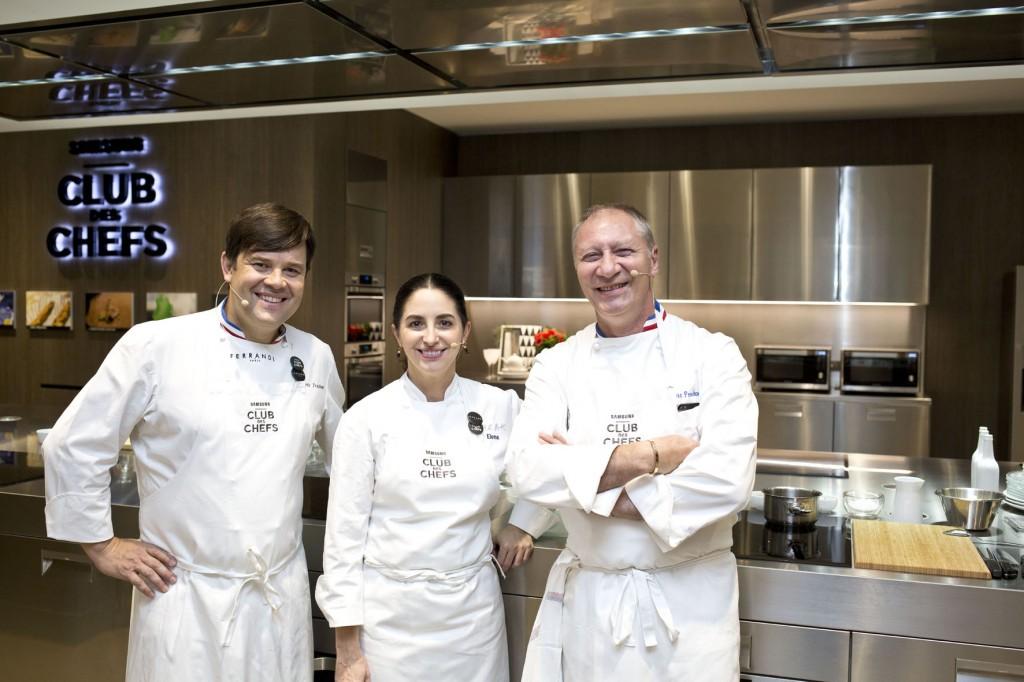Les chefs Elena Arzak, Eric Frechon et Eric Trochon, parrains de la « Samsung Culinary Class »