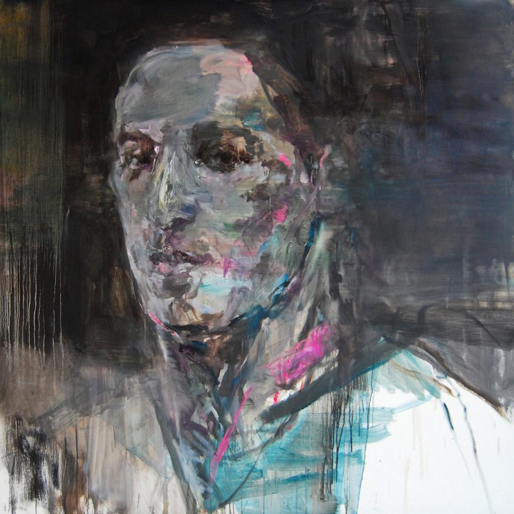 Edwige Fouvry, Martin, huile sur toile, 150x150 cm, 2014 © Courtesy Galerie Guido Romero Pierini