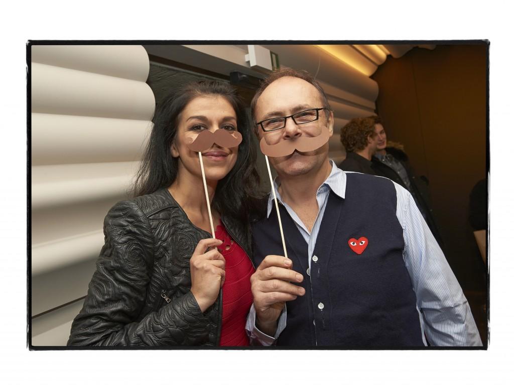 Jean-Paul Hévin avec son amie Yovanka Sopalovic, mannequin, comédienne et réalisatrice