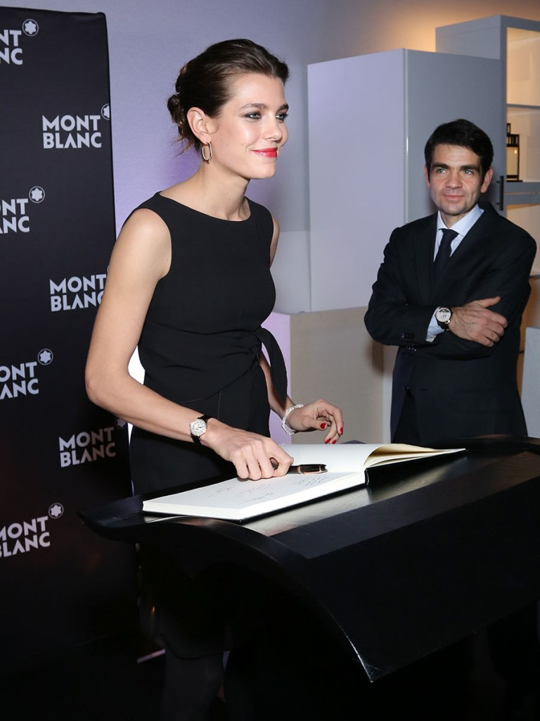 Charlotte Casiraghi (Montblanc Brand Ambassador) at SIHH 2015