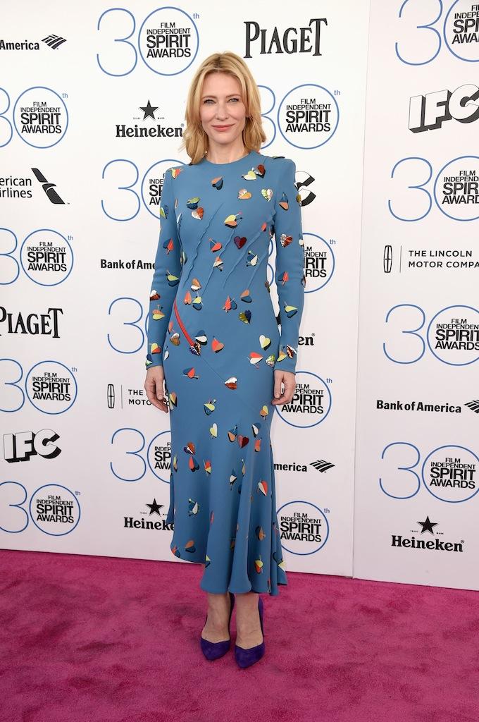 Cate Blanchett en Schiaparelli Haute Couture à la cérémonie des Film Independent Spirit Awards