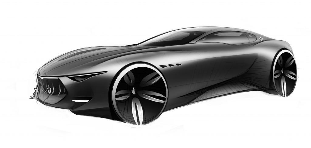 Maserati Alfieri Concept - Exterior sketch
