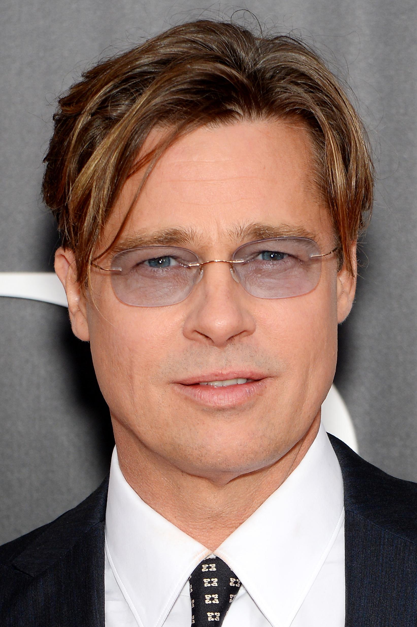 43849b16de Brad Pitt en lunettes Silhouette | FIRSTLUXE
