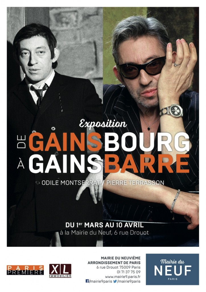 Affiche Expo Gainsbourg - Mairie du 9e