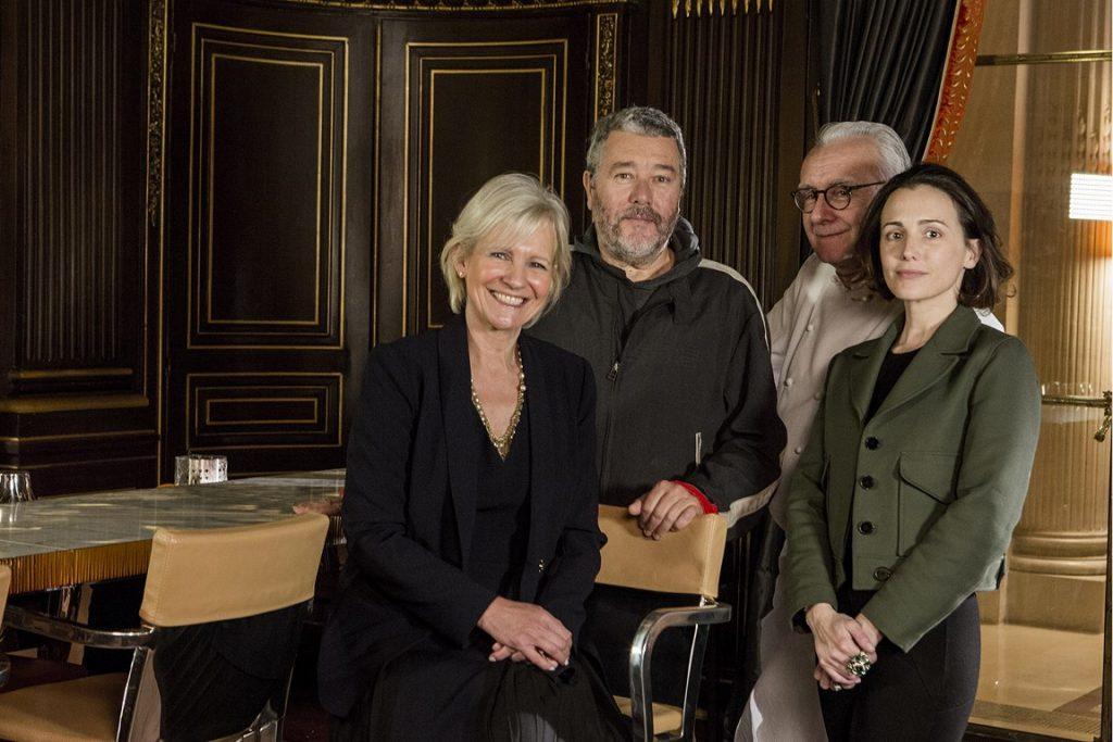 Franka Holtmann, Philippe Starck, Alain Ducasse et Ara Starck ( photo : P Monetta)