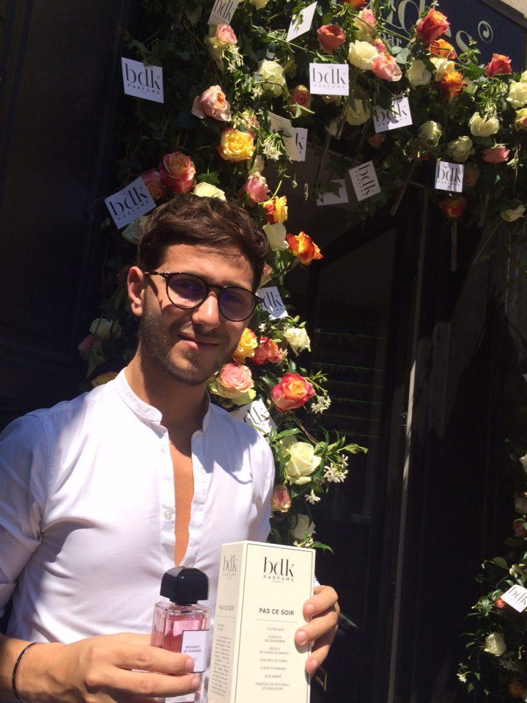 """David Benedek, jeune talentueux parfumeur. A découvrir notamment sa création """"Pas ce soir"""".."""