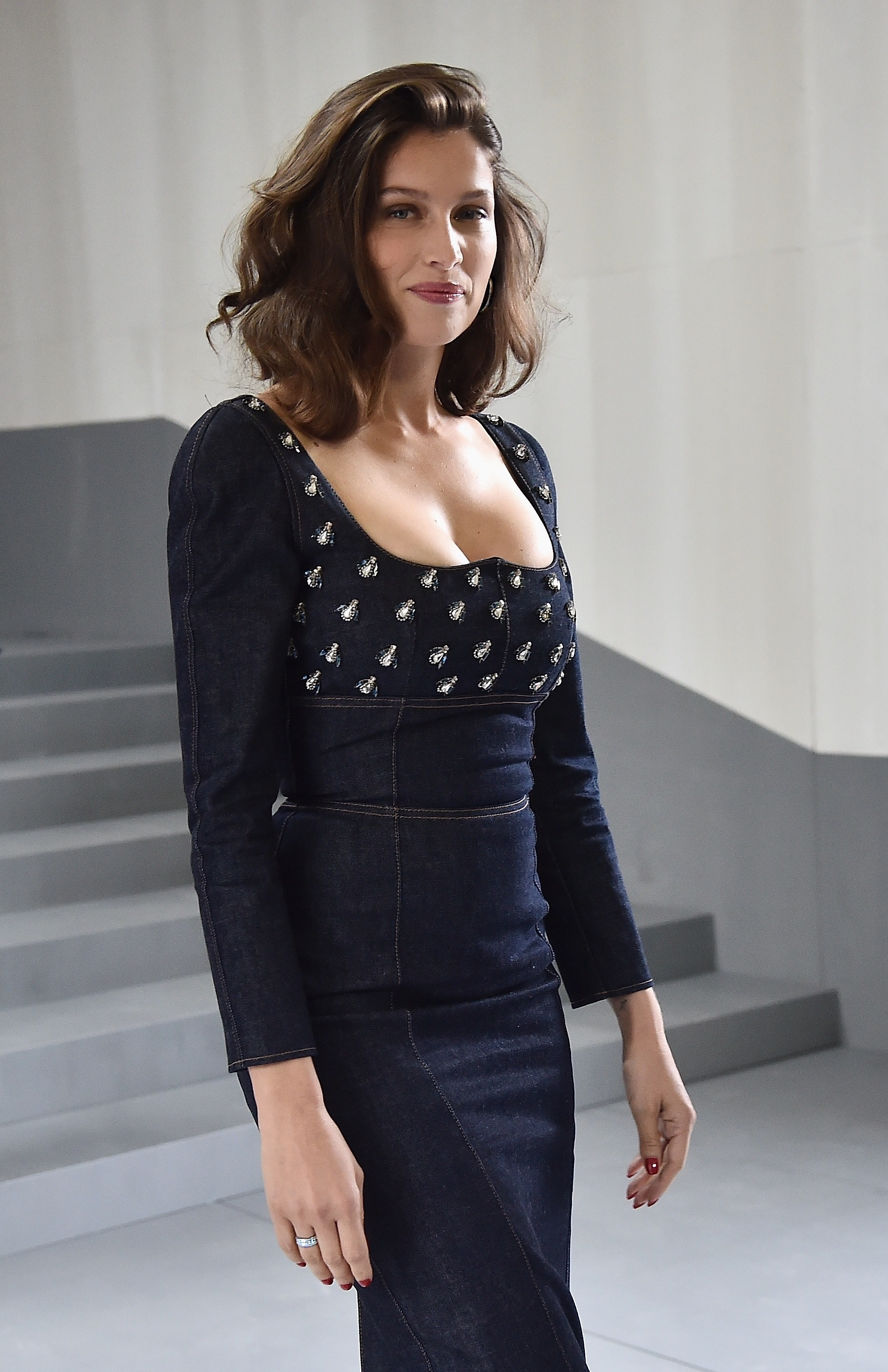 PARIS, FRANCE - SEPTEMBER 30  Laetitia Casta attends the Christian Dior  show as part 8b087e8aebd0