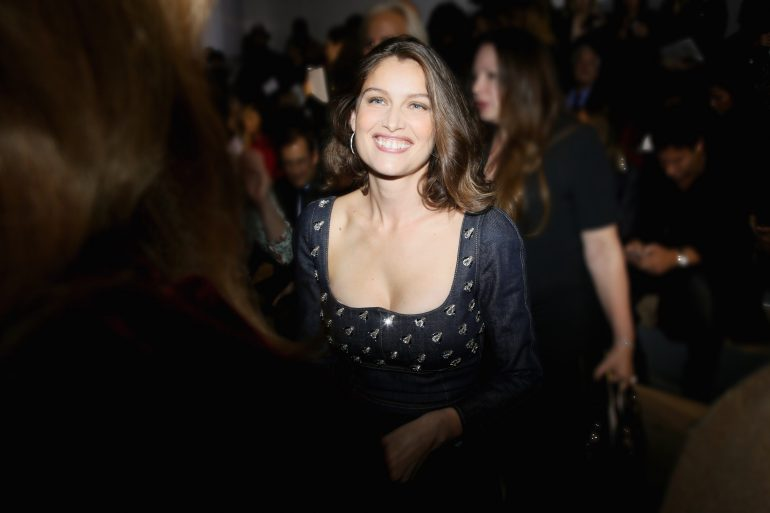 PARIS, FRANCE - SEPTEMBER 30:  Laetitia Casta attends the Christian Dior show as part of the Paris Fashion Week Womenswear  Spring/Summer 2017  on September 30, 2016 in Paris, France.  (Photo by Victor Boyko/Getty Images For Dior)