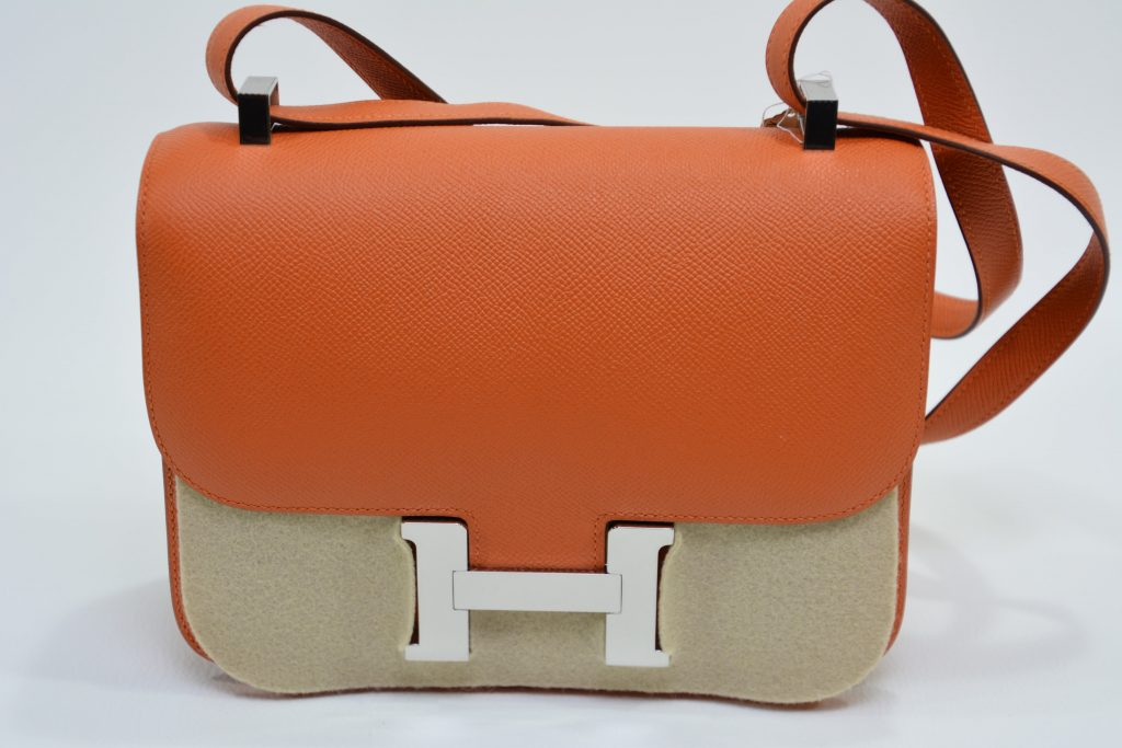 Hermès - Sac Constance - Cuir orange (1)