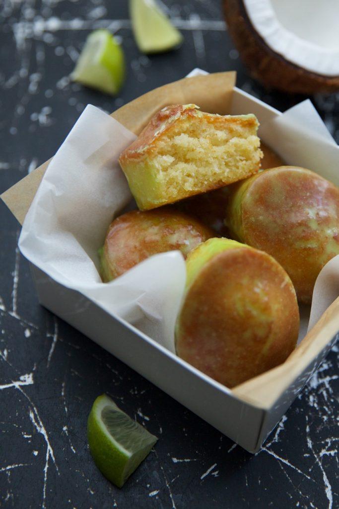 Cakes sans gluten coco citron vert