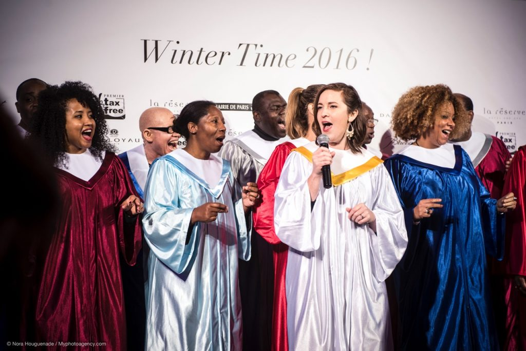 Le Chœur Gospel de Paris a interprété un concert des chants de Noël.
