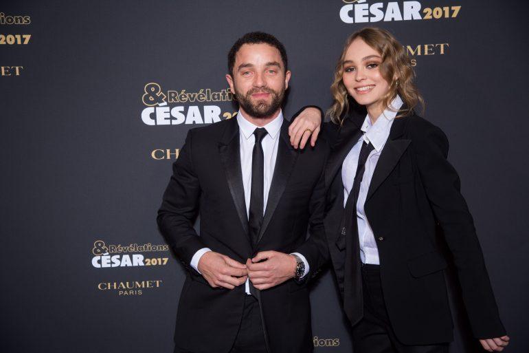 Guillaume Gouix et Lily Rose Depp - Soiree des Revelations dans les Salons Chaumet