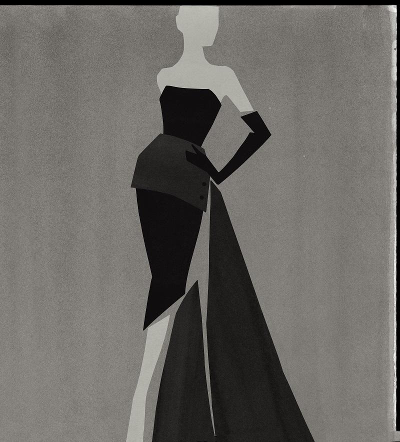 Robe Frac, automne-hiver 1949, ligne Milieu du Siècle. Frac Dress, autumn-winter 1949, Milieu du Siècle line. © Mats Gustafson