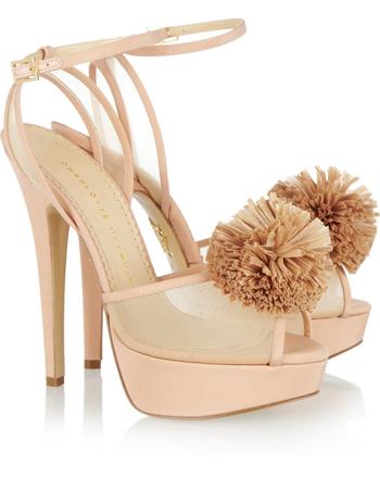 CHARLOTTE OLYMPIA Pomeline crepe de chine sandals €860