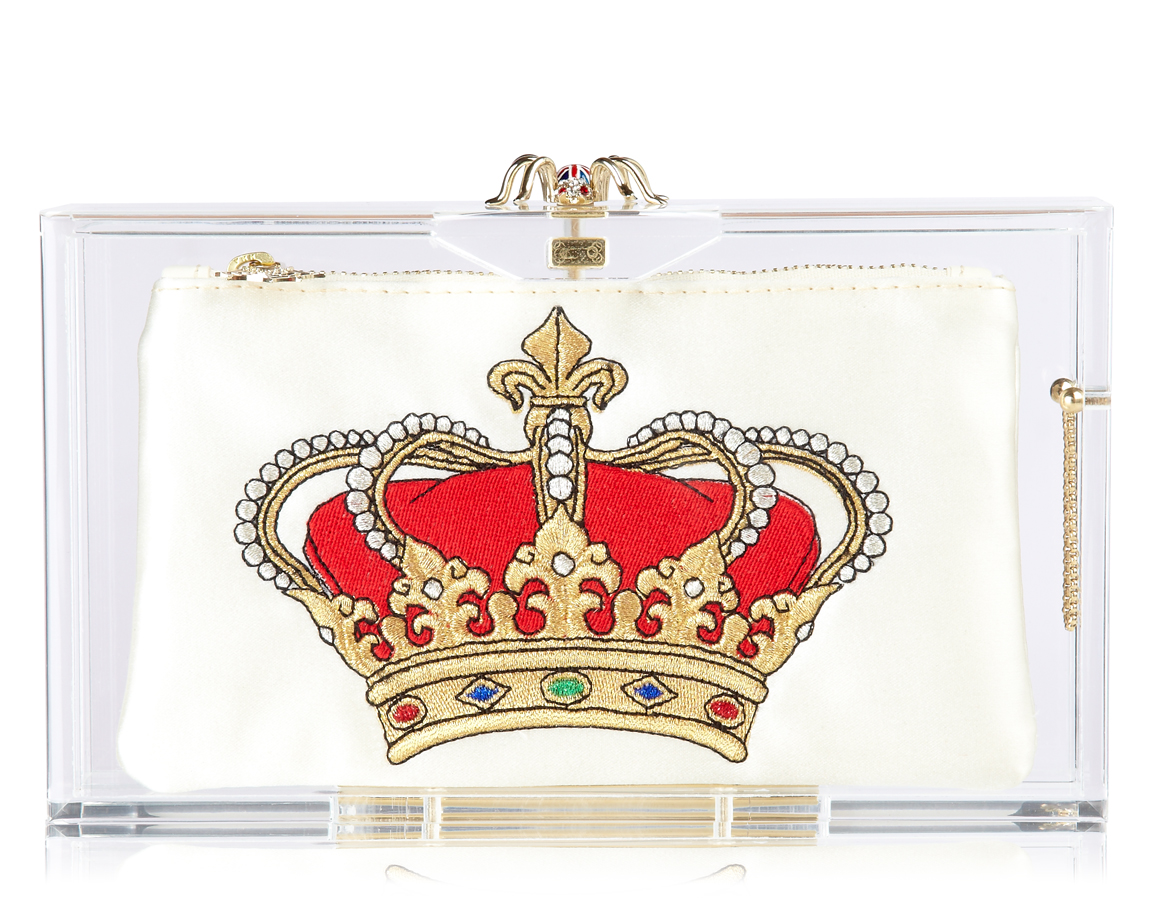 CHARLOTTE OLYMPIA London 2012 Pandora Perspex clutch