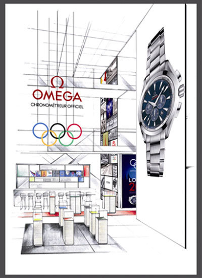 Pop up store Omega