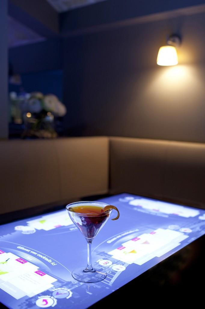 Commande de cocktails tactile
