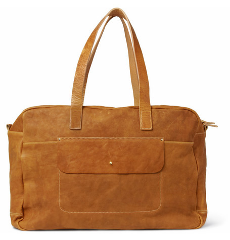 ALLY CAPELLINO  JIMMY WASHED-LEATHER HOLDALL BAG