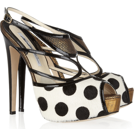 BRIAN ATWOOD Aura polka-dot calf hair sandals