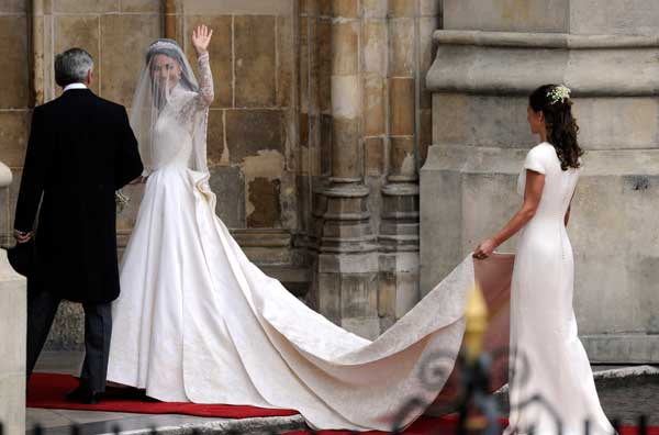 La Duchesse de Cambridge le jour de son marriage