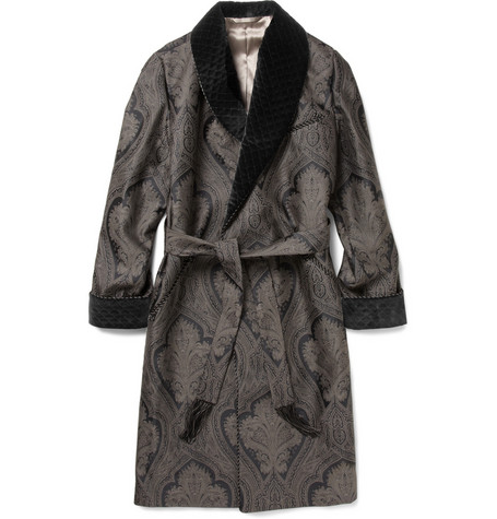 TURNBULL & ASSER  WOVEN PAISLEY DRESSING GOWN