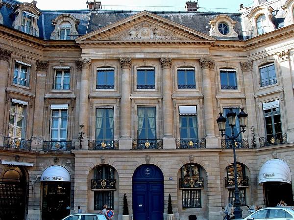 Hôtel d'Evreux, Place Vendôme