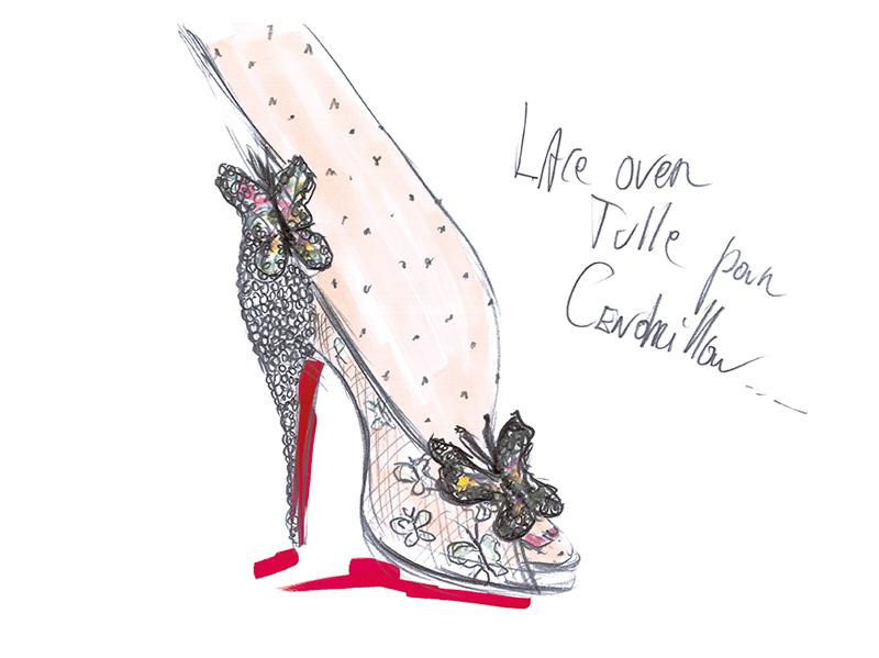 Souliers Cendrillon par Christian Louboutin