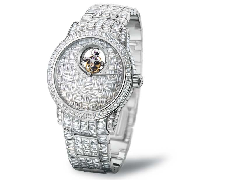 Tourbillon diamants créés par Blancspain et Swatch Group